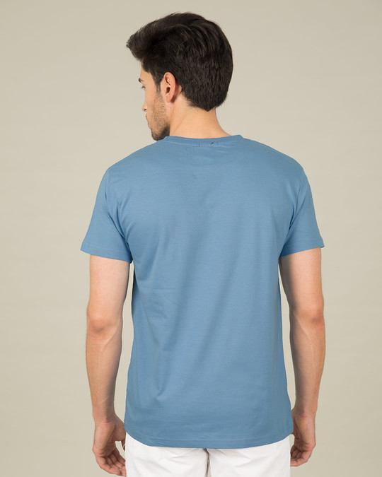 Shop Island Blue Half Sleeve T-Shirt-Design