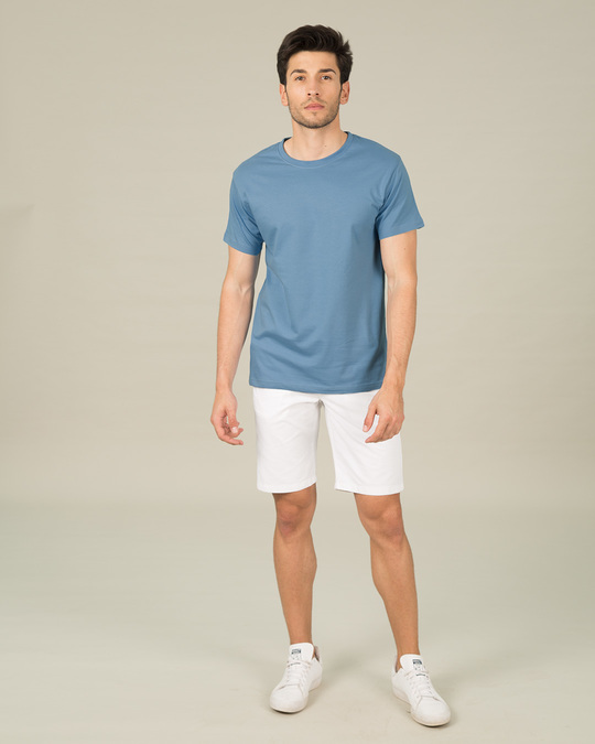 Shop Island Blue Half Sleeve T-Shirt-Full