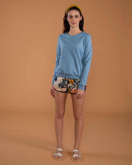 Shop Island Blue Fleece Light Sweatshirt-Full