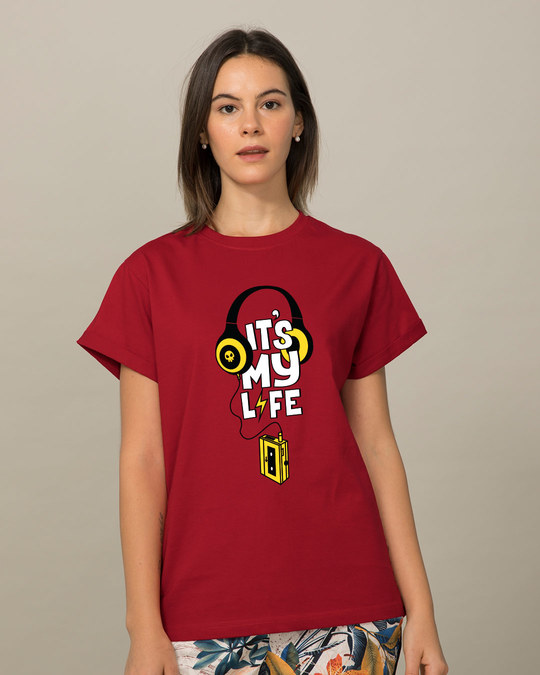 Shop It's My Life Boyfriend T-Shirt-Front