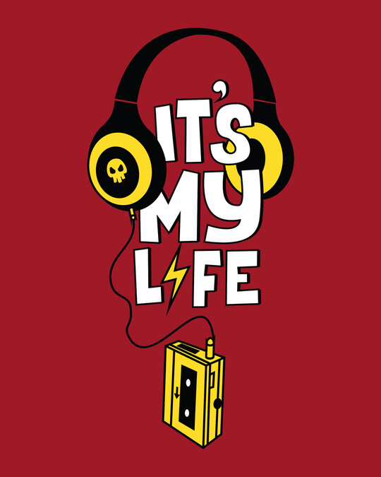 Shop It's My Life Boyfriend T-Shirt-Full