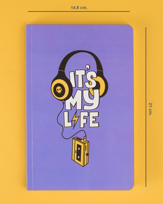Shop It's My Life Music Notebook-Back