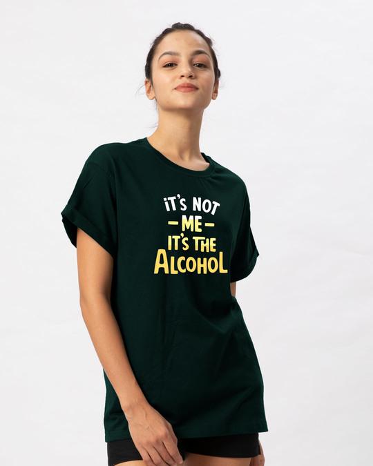 Shop It's The Alcohol Boyfriend T-Shirt-Back