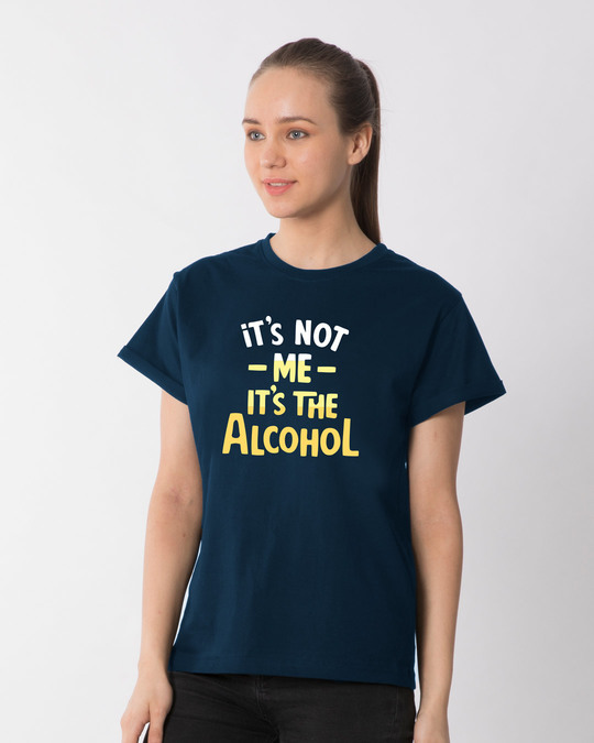 Shop It's The Alcohol Boyfriend T-Shirt-Back