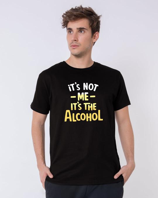 Shop It's The Alcohol Half Sleeve T-Shirt-Back