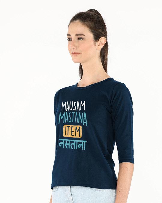 Shop Item Nastana Round Neck 3/4th Sleeve T-Shirt-Back