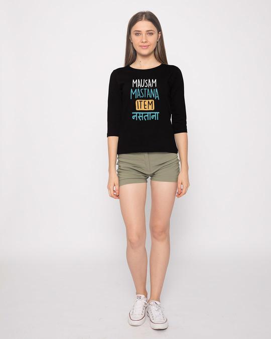 Shop Item Nastana Round Neck 3/4th Sleeve T-Shirt