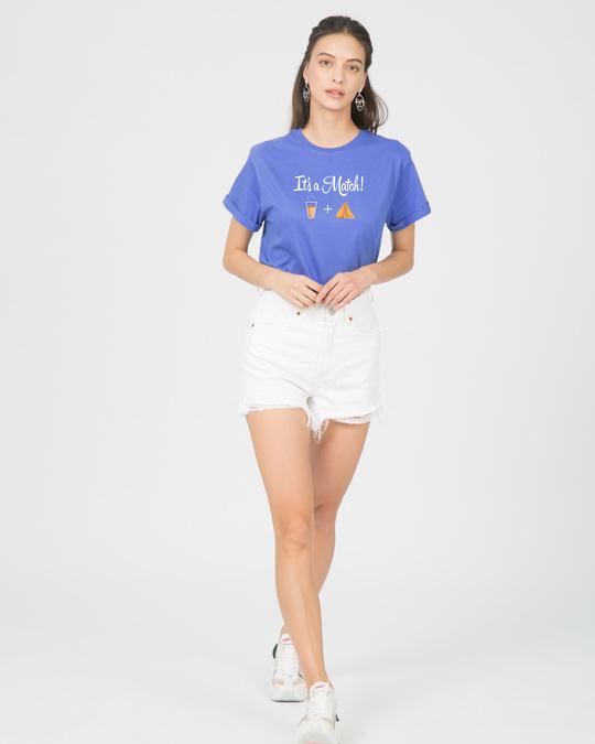 Shop Its A Match Boyfriend T-Shirt-Full