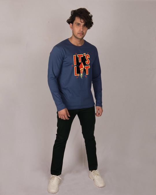 Shop Its Lit Full Sleeve T-Shirt-Design