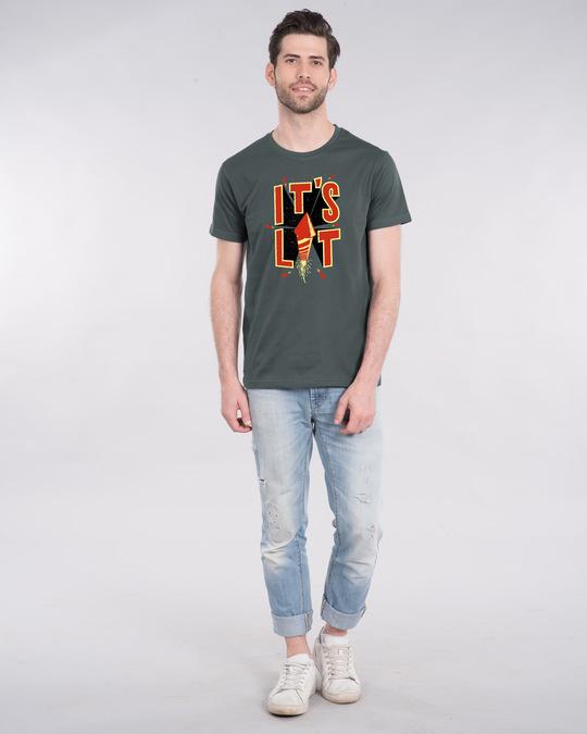 Shop Its Lit Half Sleeve T-Shirt-Full