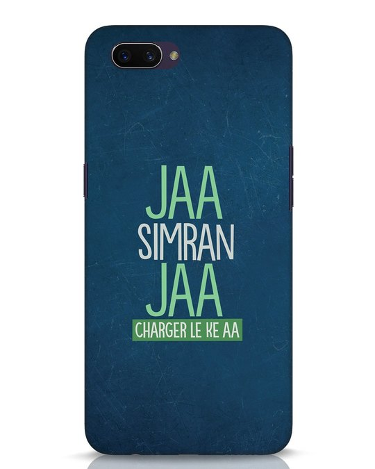 Shop Jaa Simran Jaa Charger Le Ke Aa Oppo A3S Mobile Cover-Front