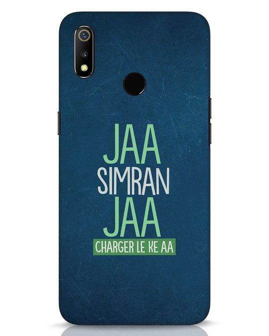 Shop Jaa Simran Jaa Charger Le Ke Aa Realme 3 Mobile Cover-Front