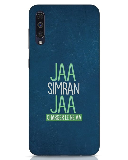 Shop Jaa Simran Jaa Charger Le Ke Aa Samsung Galaxy A50 Mobile Cover-Front