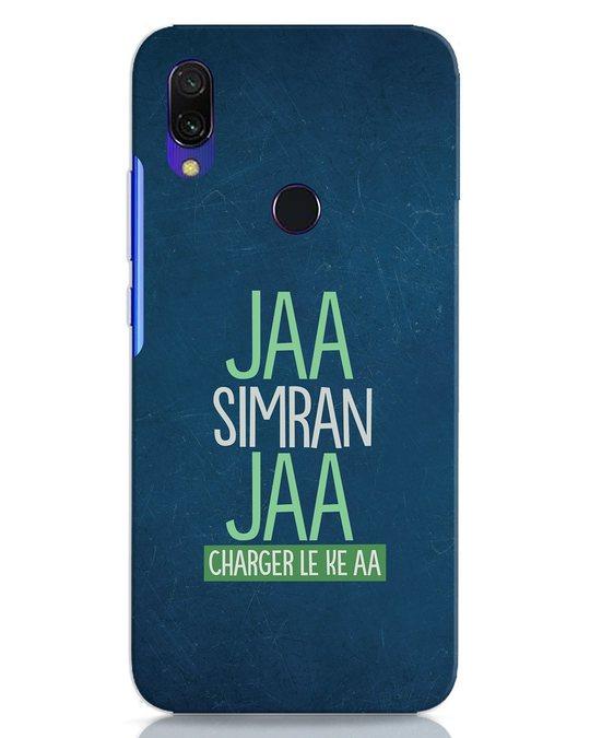 Shop Jaa Simran Jaa Charger Le Ke Aa Xiaomi Redmi 7 Mobile Cover-Front
