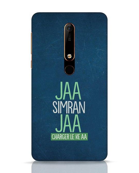 Shop Jaa Slmran Jaa Charger Le Ke Aa Nokia 6.1 Mobile Cover-Front