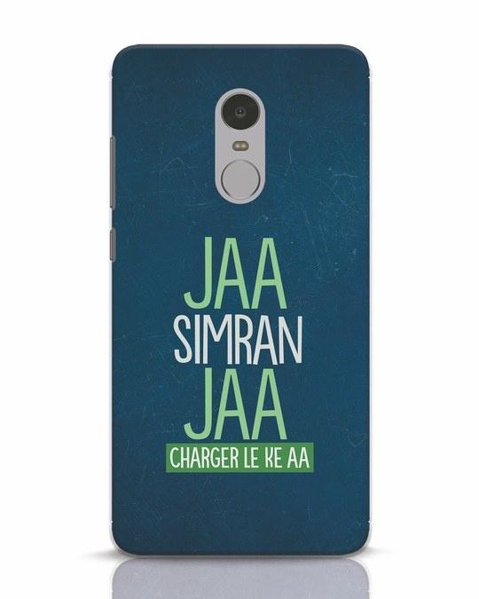 Shop Jaa Slmran Jaa Charger Le Ke Aa Xiaomi Redmi Note 4 Mobile Cover-Front