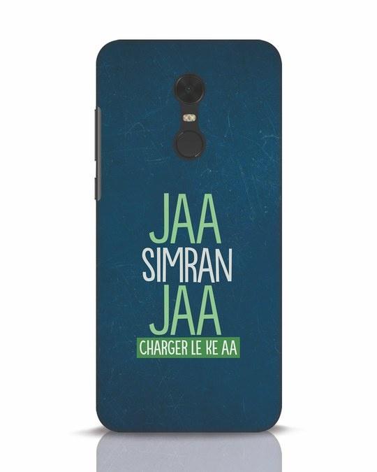 Shop Jaa Slmran Jaa Charger Le Ke Aa Xiaomi Redmi Note 5 Mobile Cover-Front