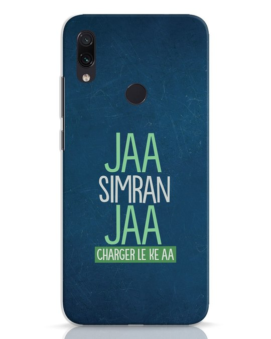 Shop Jaa Slmran Jaa Charger Le Ke Aa Xiaomi Redmi Note 7 Pro Mobile Cover-Front