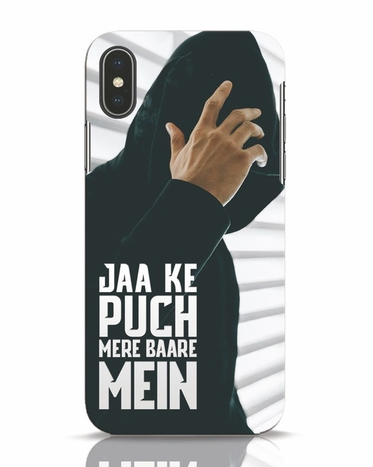 Shop Jaake Puch Mere Baare Mein iPhone X Mobile Cover-Front