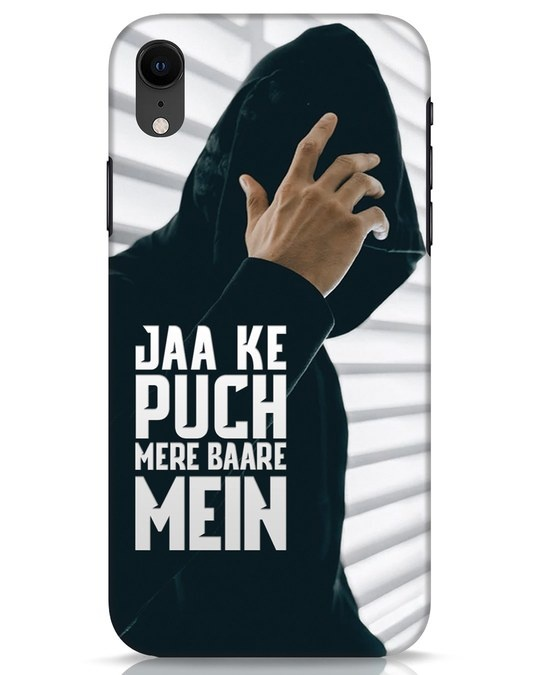 Shop Jaake Puch Mere Baare Mein iPhone XR Mobile Cover-Front