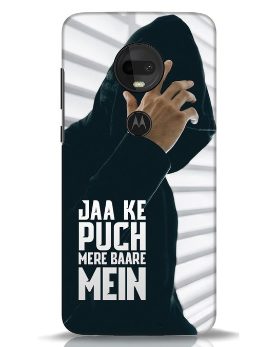 Shop Jaake Puch Mere Baare Mein Moto G7 Mobile Cover-Front