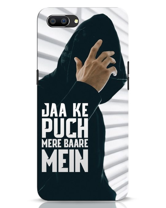 Shop Jaake Puch Mere Baare Mein Realme C1 Mobile Cover-Front