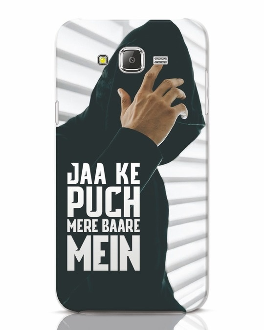 Shop Jaake Puch Mere Baare Mein Samsung Galaxy J7 Mobile Cover-Front