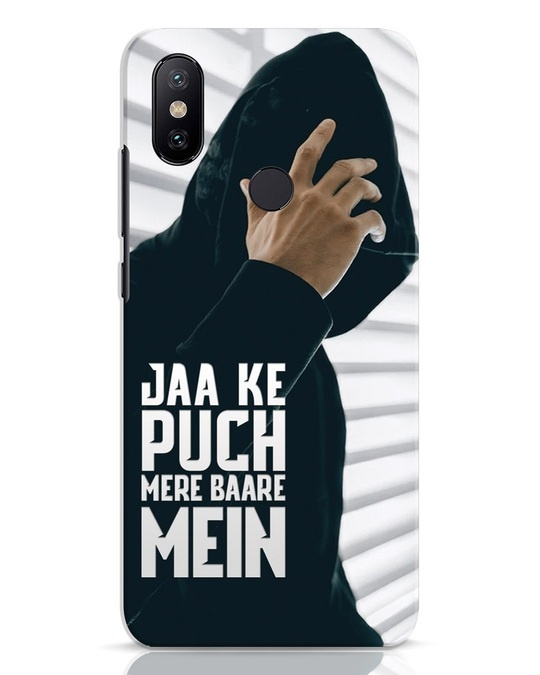 Shop Jaake Puch Mere Baare Mein Xiaomi Mi A2 Mobile Cover-Front