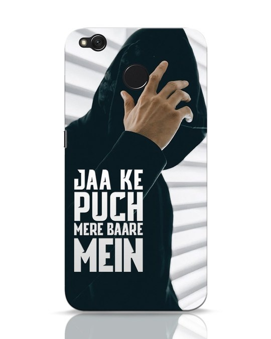 Shop Jaake Puch Mere Baare Mein Xiaomi Redmi 4 Mobile Cover-Front