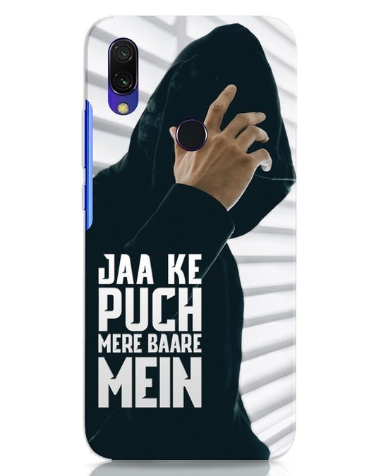 Shop Jaake Puch Mere Baare Mein Xiaomi Redmi 7 Mobile Cover-Front