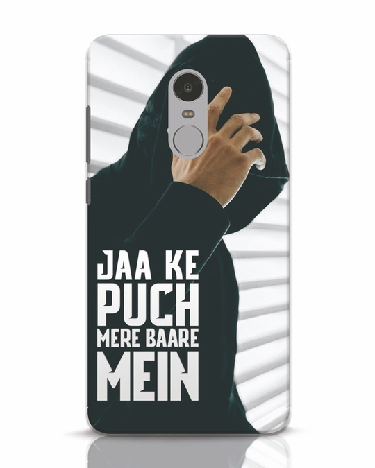 Shop Jaake Puch Mere Baare Mein Xiaomi Redmi Note 4 Mobile Cover-Front