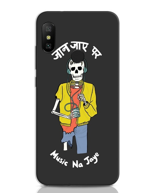 Shop Jaan Music Xiaomi Redmi Note 6 Pro Mobile Cover-Front
