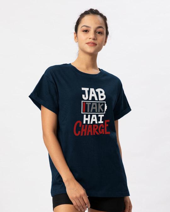 Shop Jab Tak Hai Charge Boyfriend T-Shirt-Back