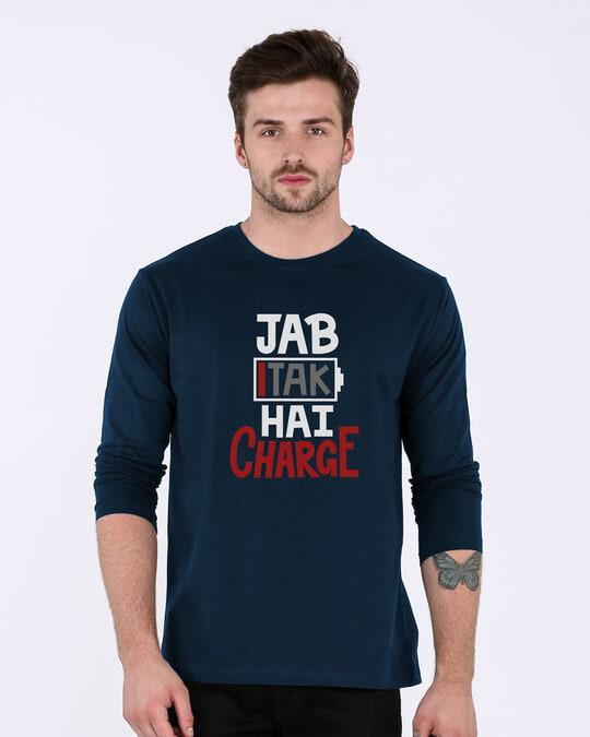 Shop Jab Tak Hai Charge Full Sleeve T-Shirt-Front