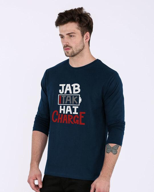 Shop Jab Tak Hai Charge Full Sleeve T-Shirt-Back