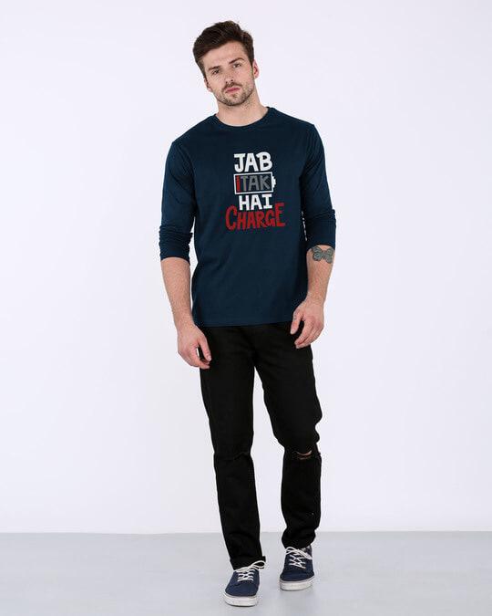 Shop Jab Tak Hai Charge Full Sleeve T-Shirt-Full