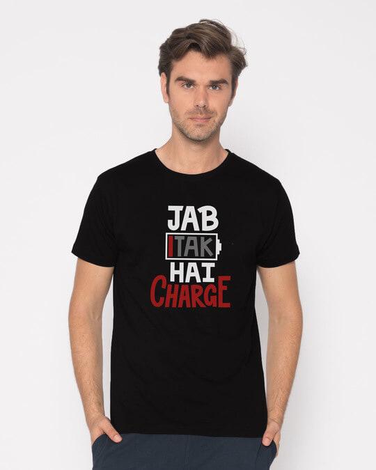 Shop Jab Tak Hai Charge Half Sleeve T-Shirt-Back