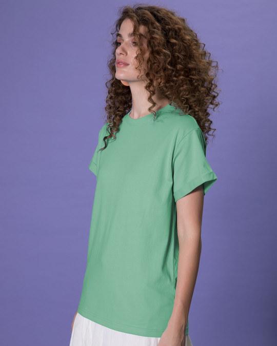 Shop Jade Green Boyfriend T-Shirt-Back
