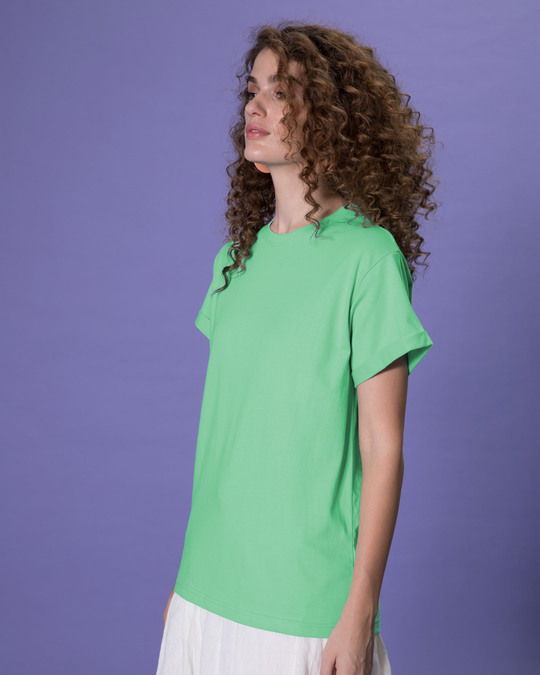 Shop Jade Green Boyfriend T-Shirt-Back