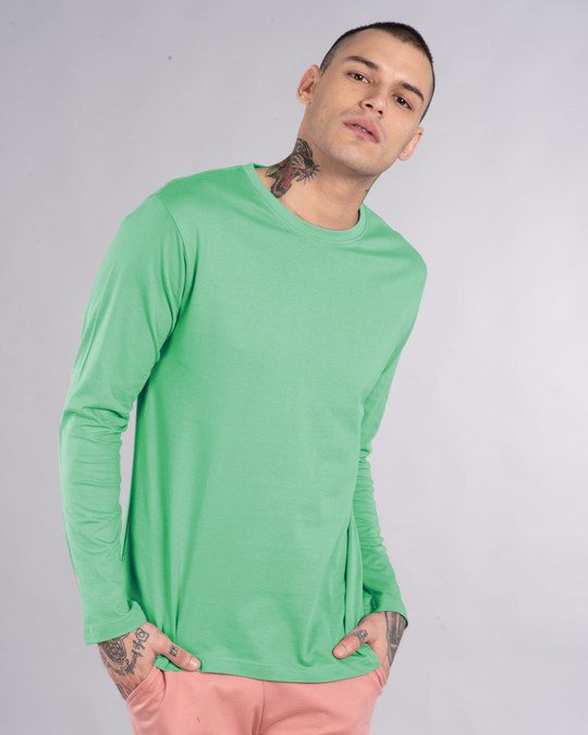 Shop Jade Green Full Sleeve T-Shirt-Back