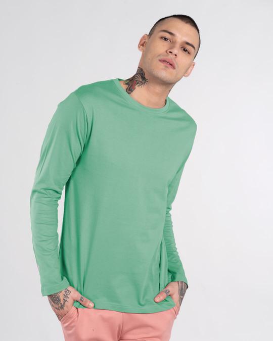 Shop Jade Green Full Sleeve T-Shirt-Back