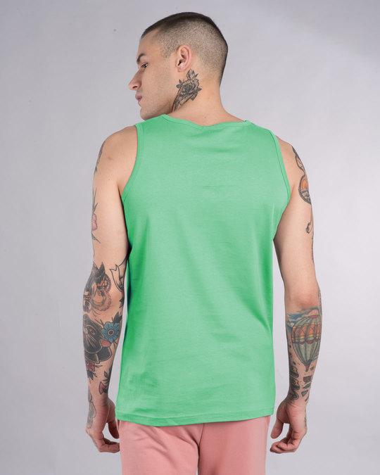 Shop Jade Green Round Neck Vest-Full