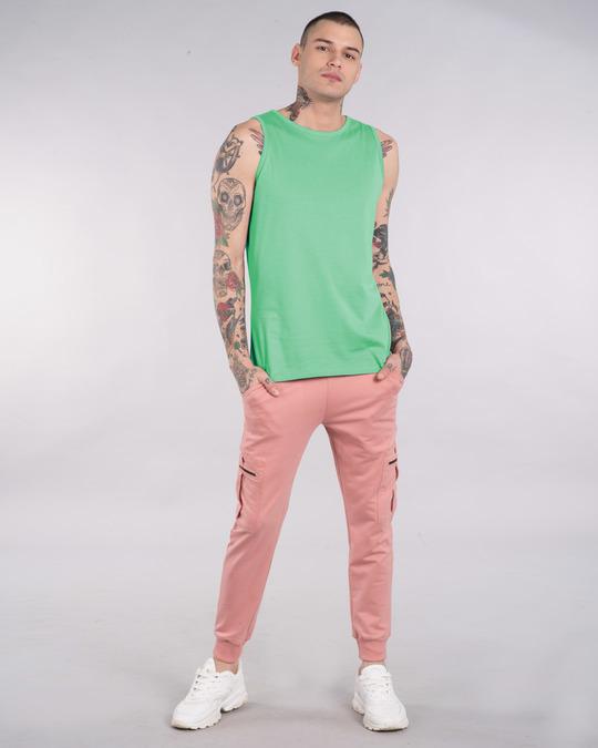 Shop Jade Green Round Neck Vest