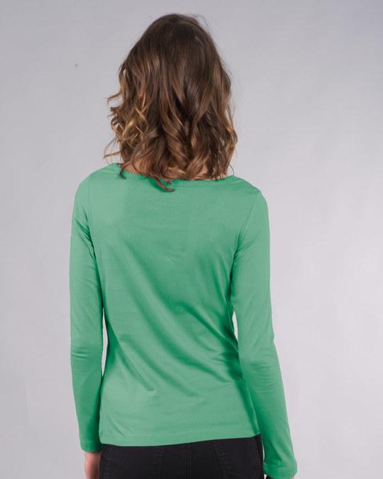 Shop Jade Green Scoop Neck Full Sleeve T-Shirt-Design