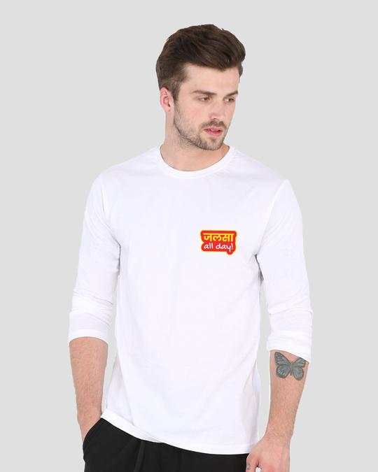 Shop Jalsa All Day Full Sleeve T-Shirt White-Back