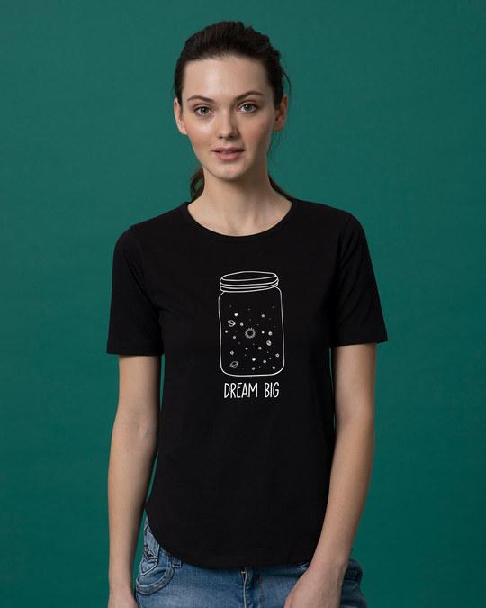 Shop Jar Of Dreams Basic Round Hem T-Shirt (GID)-Front