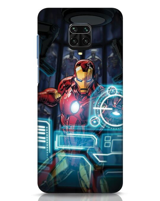 Shop Jarvis Xiaomi Redmi Note 9 Pro Mobile Cover (AVL)-Front