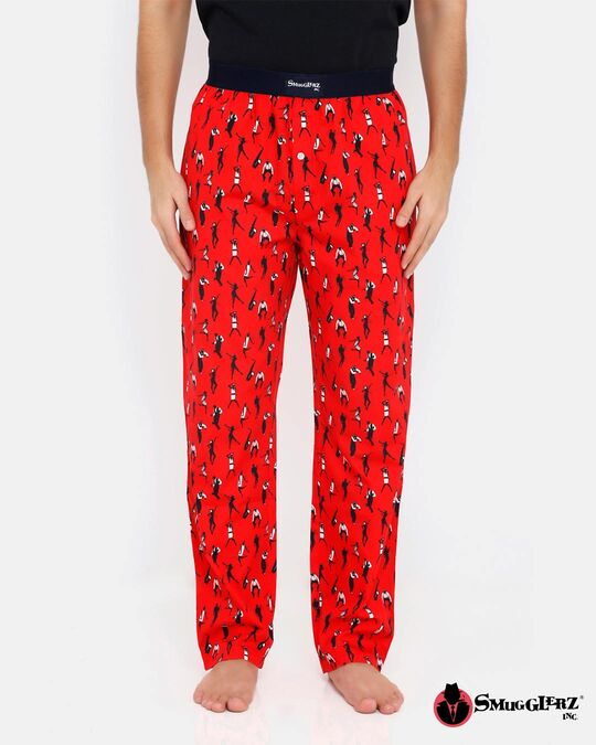 Shop Smugglerz Jazz Pyjamas Red-Front