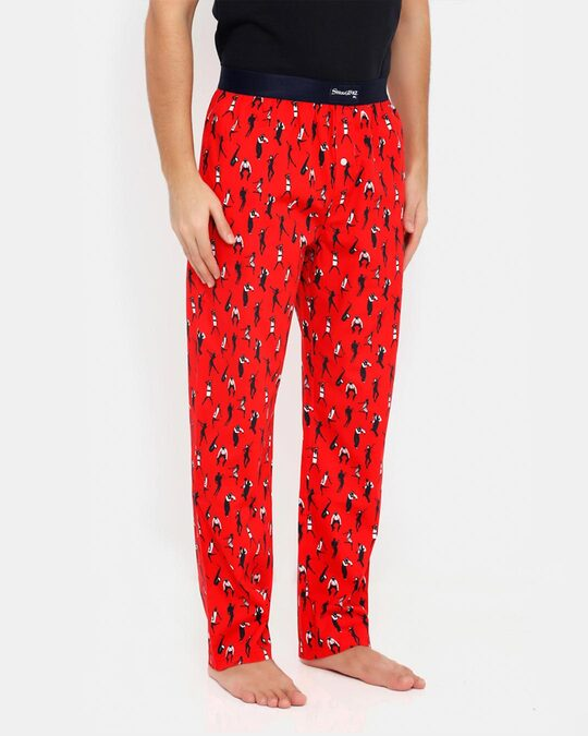 Shop Smugglerz Jazz Pyjamas Red-Back