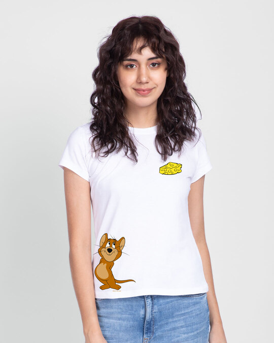 Shop Jerry & Cheese Women's Half Sleeve Printed T-Shirt (TJL)-Front